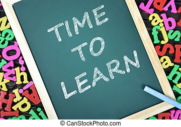 tekst, szkoła, uczyć się, deska, czas