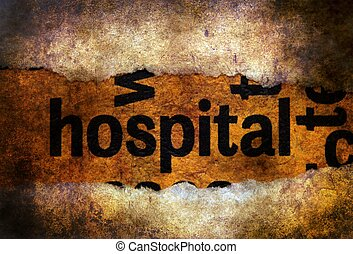 tekst, szpital, grunge, tło
