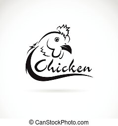tekst, tło., wektor, projektować, kurczak, biały