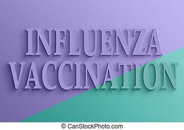 tekst, van, griep, inenting