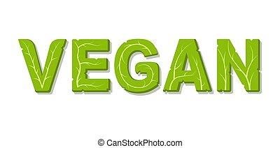 tekst, vegan, logo.