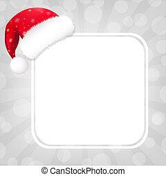 tekstballonetje, hoedje, kerstman, zonnestraal