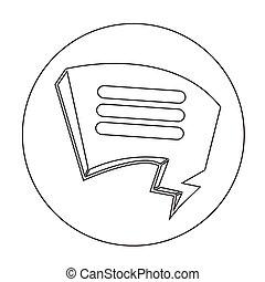 tekstballonetje, pictogram
