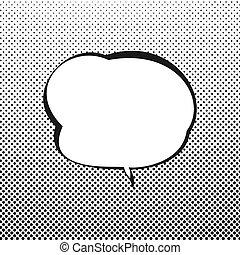 tekstballonetje, retro, achtergrond