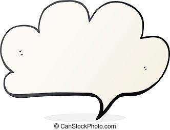 tekstballonetje, spotprent, wolk