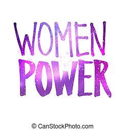 tekstning, illustration, magt, kvinder