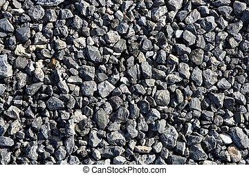 teksturer, gråne, sten, asfalt, konkret, blande, grus