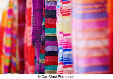tekstylia, dywany, sprzedaż, barwny, essaouira