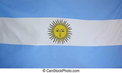 tekstylny, bandera, argentyna, slowmotion