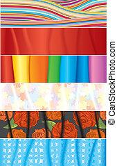 tekstylny, chorągwie