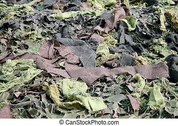 tekstylny, kamuflaż, armia