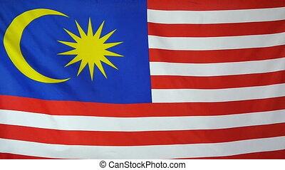 tekstylny, malezja bandera, slowmotion