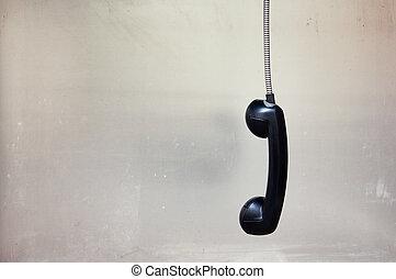 teléfono, ahorcadura, receptor