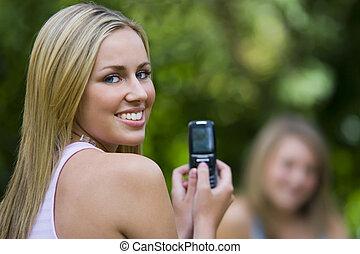 teléfono, cámara