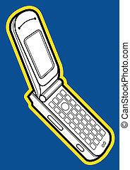 teléfono, capirotazo, móvil