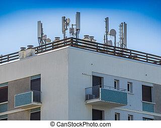 teléfono celular, antenas