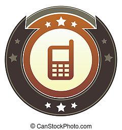 teléfono celular, botón, imperial