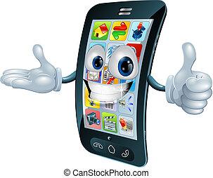 teléfono celular, carácter, hombre