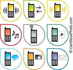 teléfono celular, iconos