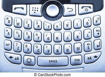 teléfono celular, o, pda