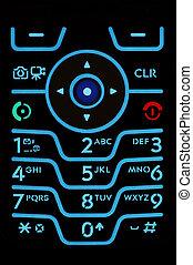 teléfono celular, telclado numérico