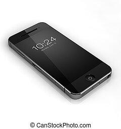 teléfono, concepto, elegante, costumbre