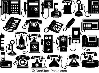 teléfono, conjunto