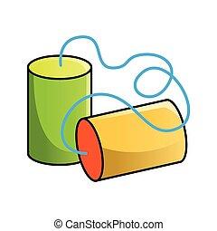 teléfono de la lata de lata