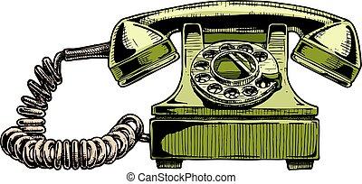 teléfono, esfera rotatoria