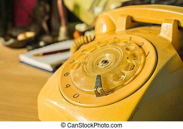 teléfono, esfera, rotatorio