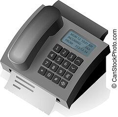 teléfono, fax