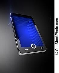 teléfono móvil, 3d, pantalla