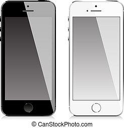 teléfono móvil, estilo, similar, iphone