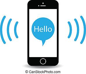 teléfono móvil, resonante