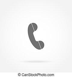 teléfono, microteléfono, icono