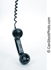teléfono negro, receptor