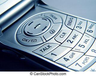teléfono, primer plano, celular