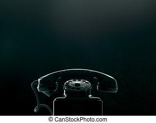 teléfono, vendimia, esfera rotatoria