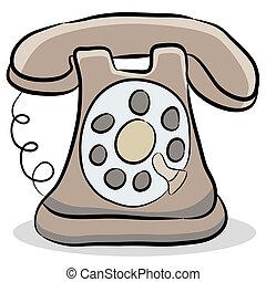 teléfono viejo, formado