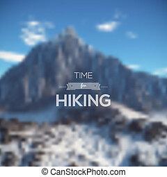 telón de fondo., multifunctional, paisaje., montaña, medios, vector., blurred., editable., minimalistic