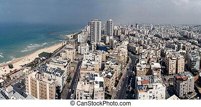 Tel Aviv aerial view - Aerial view of Tel Aviv city, Israel