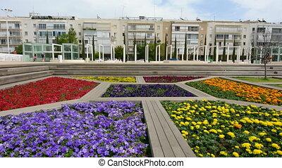 Habima Square in Tel Aviv, Israel - TEL AVIV - APR 08...
