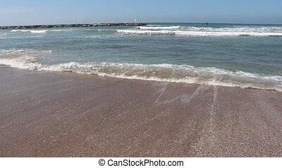 Tel-Aviv beach - Shot of Tel-Aviv beach
