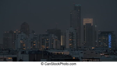 Tel Aviv cityscape in the dusk, Israel