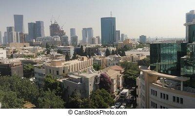 Tel-Aviv cityscape shot clip