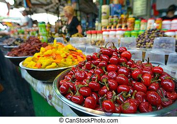 Carmel Market Shuk HaCarmel in Tel Aviv, Israel - TEL AVIV, ...