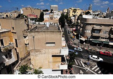Tel Aviv - Israel - TEL AVIV - JULY 06: Aerial view of...