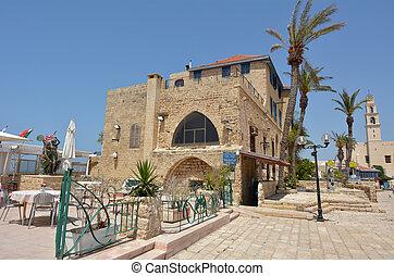 Tel Aviv Jaffa - Israel - Cityscape of Kikar Kedumim street...