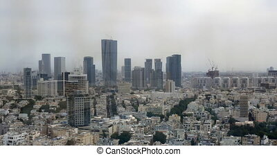 Tel Aviv panorama with houses and skyscrapers, Israel -...