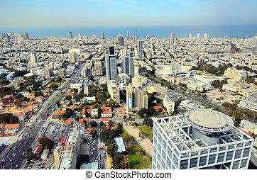 Tel Aviv Skyline - Aerial skyline of Tel Aviv, Israel.